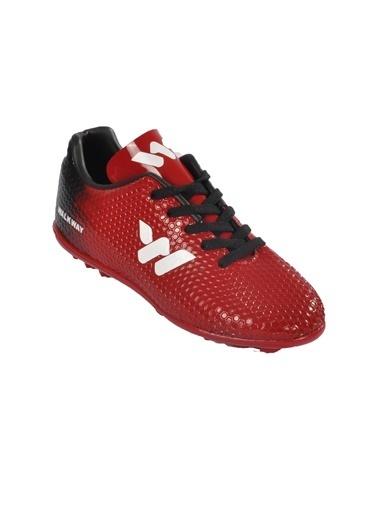 Walkway 023 Kırmızı-Beyaz Çocuk Halı Saha Ayakkabı Kırmızı
